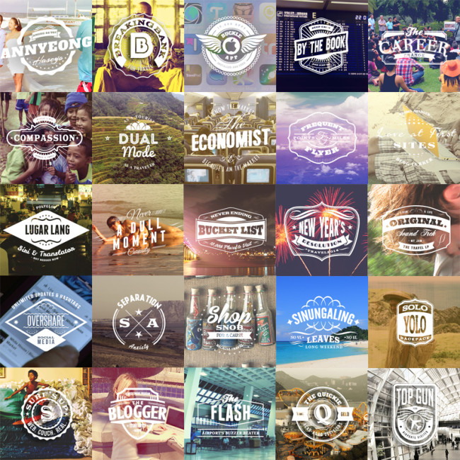 26 Badges for Travel Addicts