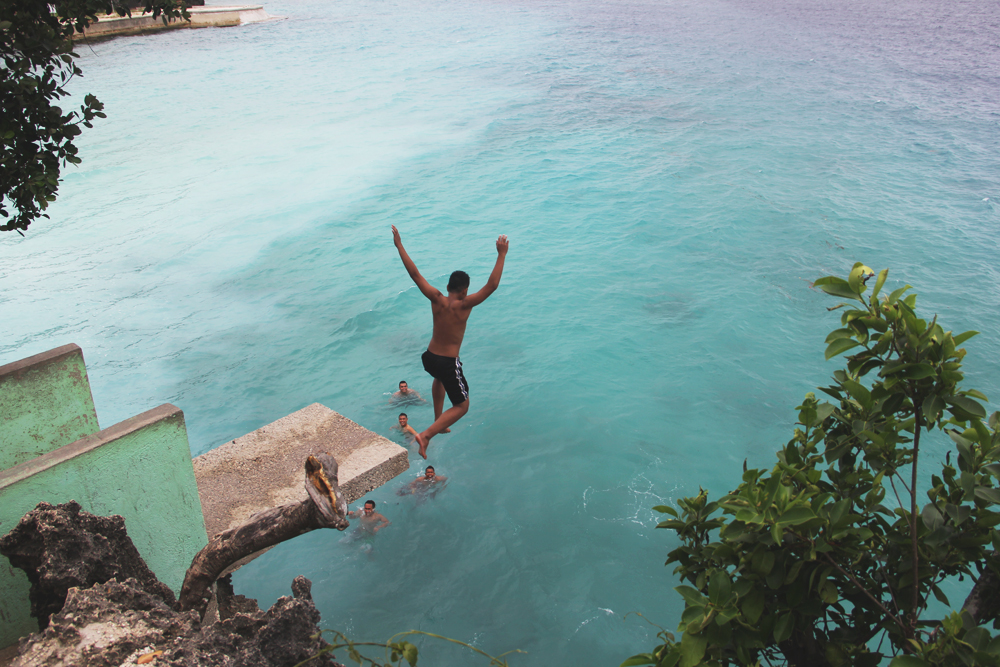 #5. Cliff diving  in Salagdoong Beach Resort