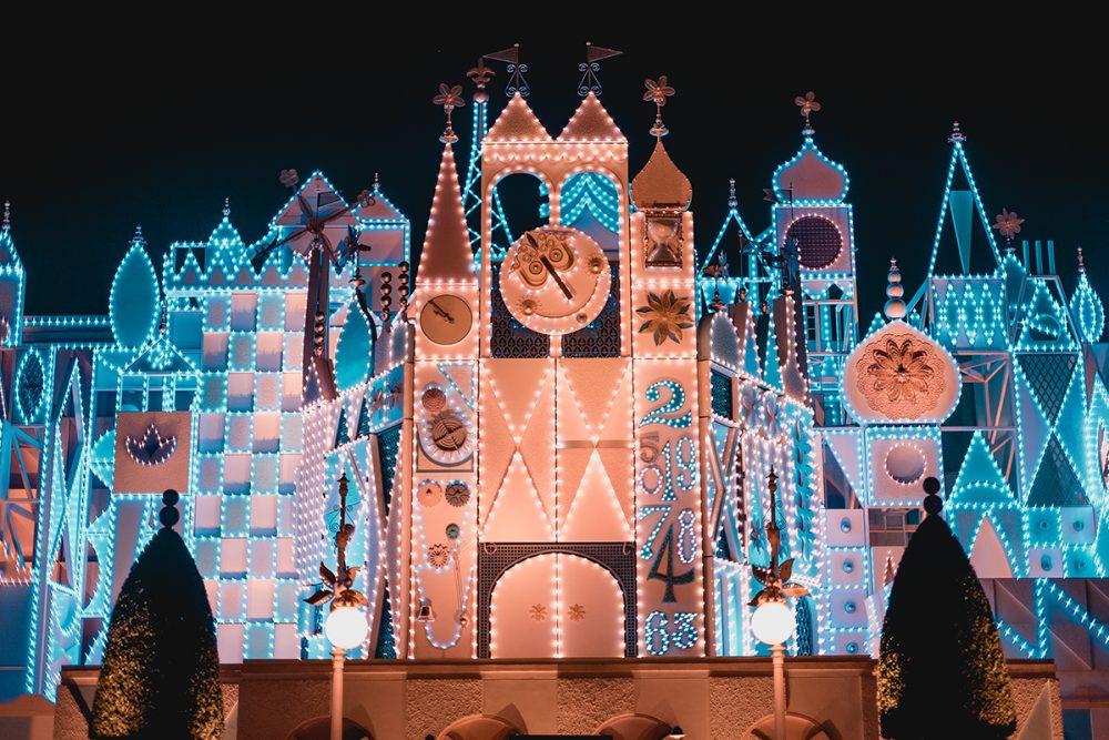 Hongkong Disneyland at Night